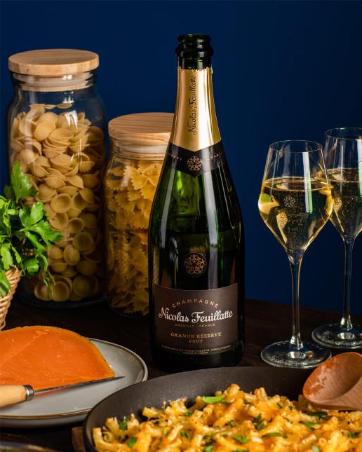 Nicolas Feuillatte Grande Réserve Brut - Accords Pâtes Mac'n cheese